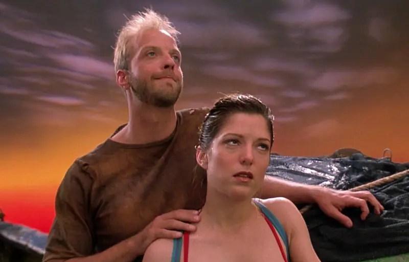 Chris Elliott and Melora Walters in Cabin Boy.