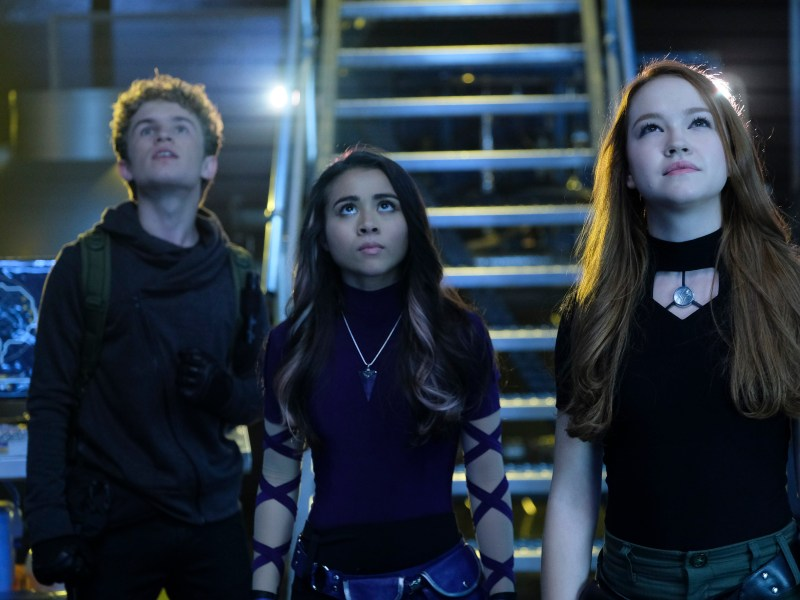 Sean Giambrone, Ciara Wilson and Sadie Stanley in the live-action Kim Possible movie.