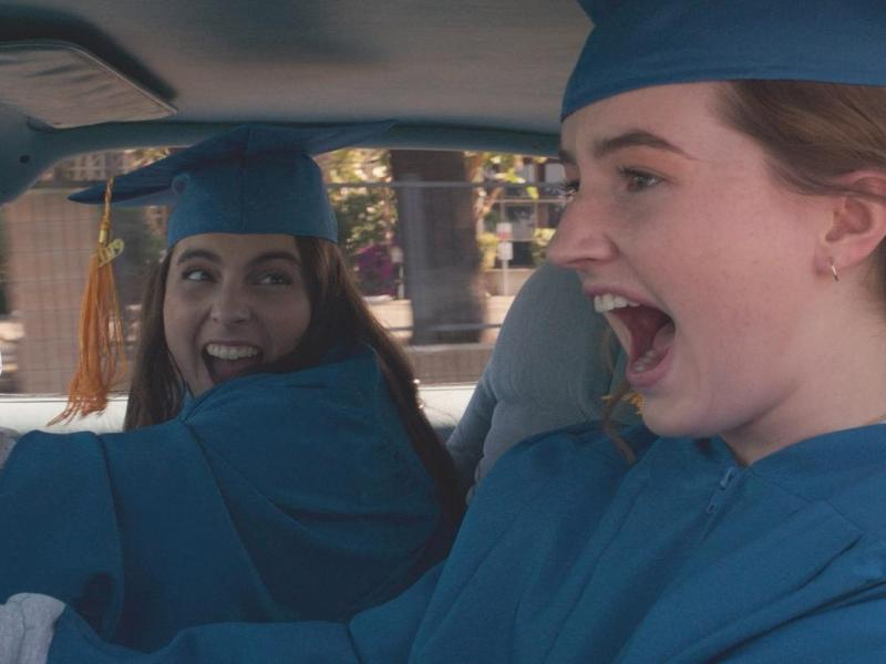 Kaitlyn Dever stars as Amy and Beanie Feldstein as Molly in Olivia Wilde's directorial debut, Booksmart, an Annapurna Pictures release