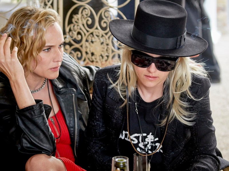 Diane Kruger as Eva and Kristen Stewart as Savannah Knoop in the film J.T. LEROY.