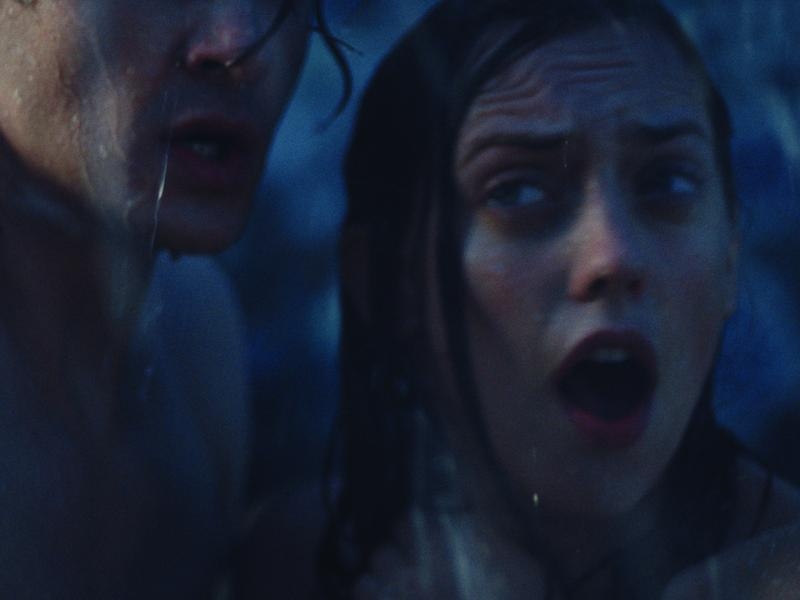 Blake (John Bubniak) and Natalie (Corey Potter) in Storm.