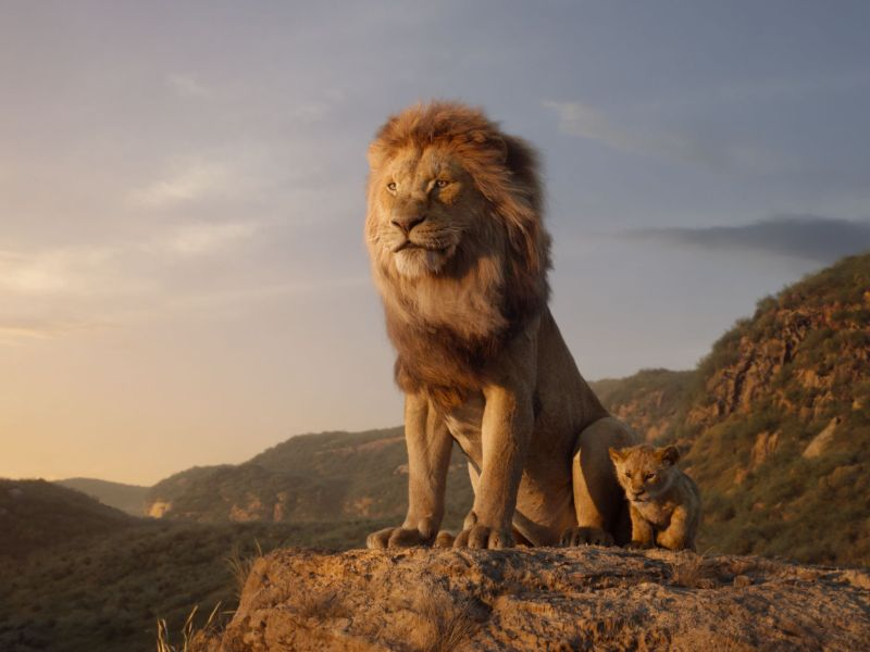 Featuring the voices of James Earl Jones as Mufasa, and JD McCrary as Young Simba, The Lion KIng is directed by Jon Favreau.