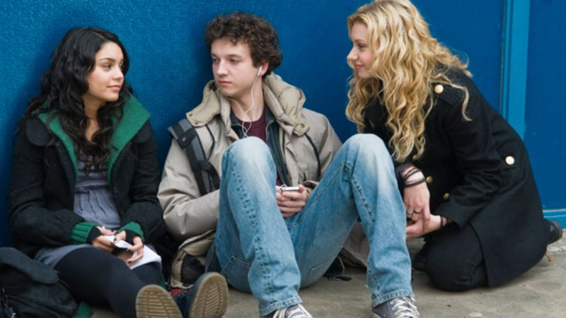 Vanessa Hudgens, Gaelan Connell, and Aly Michalka in Bandslam.
