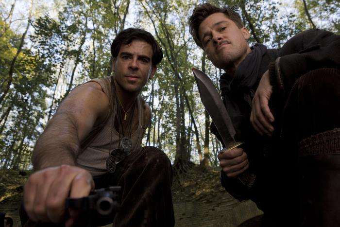 Eli Roth and Brad Pitt in Inglourious Basterds.