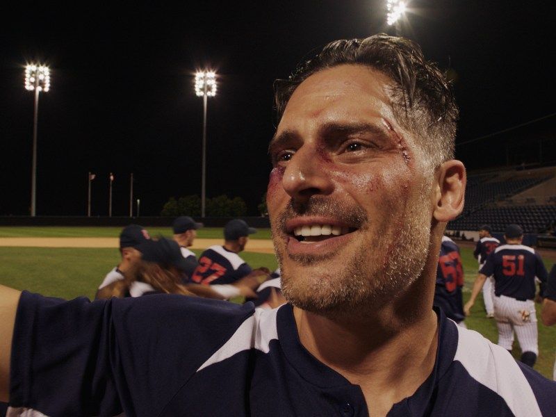 Sonny (Joe Manganiello) after hitting a home run in Bottom of the 9th.