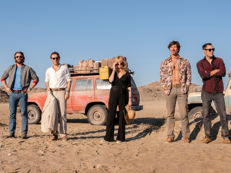 Chris Evans, Alessandro Nivola, Haley Bennett, Michiel Huisman, and Alex Hassell in The Red Sea Diving Resort.