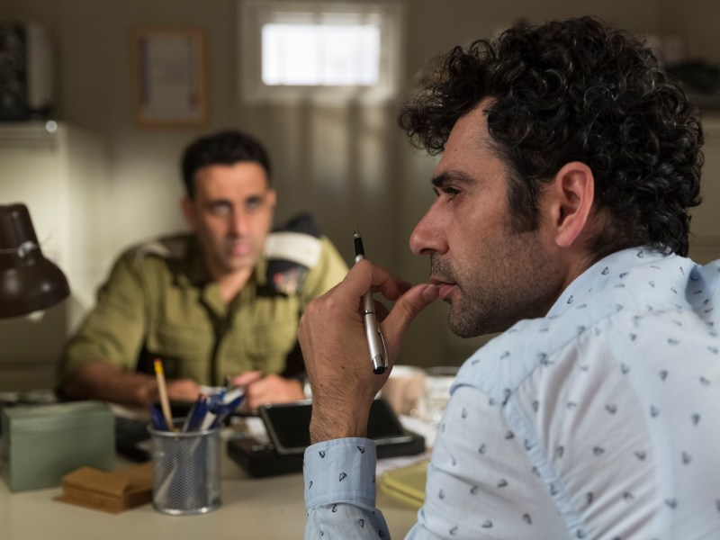 "Yaniv Biton as ""Assi"" (left) and Kais Nashif as ""Salam"" (right) in TEL AVIV ON FIRE directed by Sameh Zoabi."
