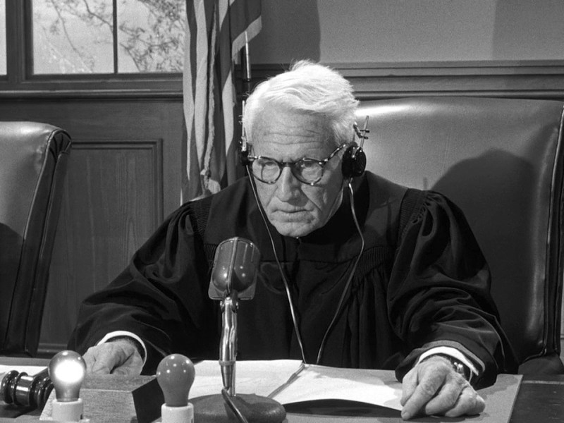 Spencer Tracy in Judgment in Nuremberg