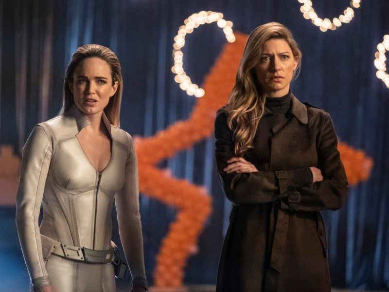 Caity Lotz and Jes Macallan in DC's Legends of Tomorrow