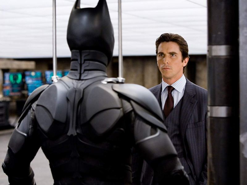 Christian Bale in The Dark Knight.