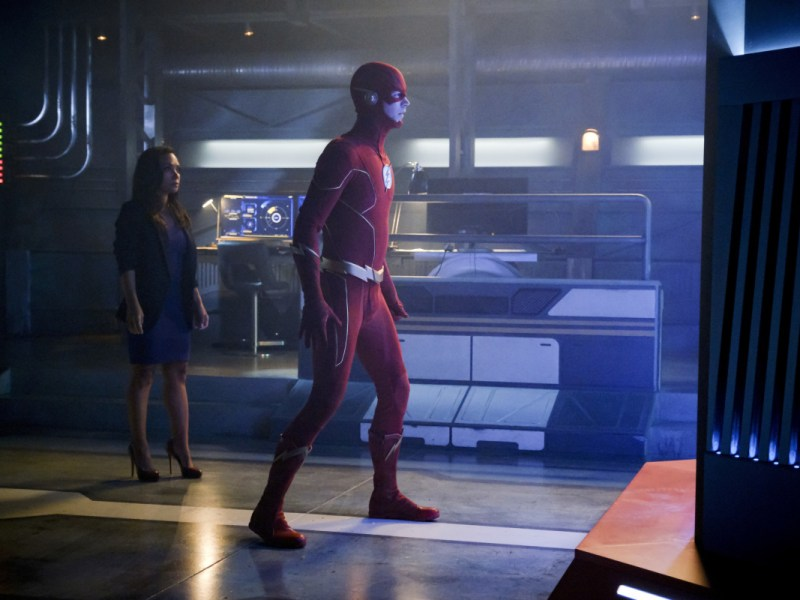 "Grant Gustin in The Flash episode ""Into the Void."""