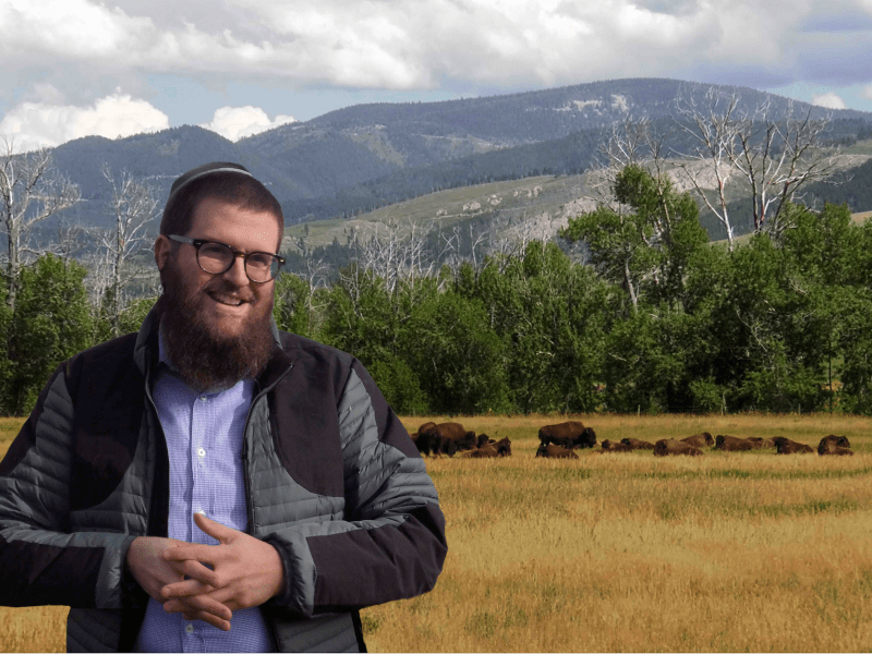 Rabbi Chaim Bruk in The Rabbi Goes West.