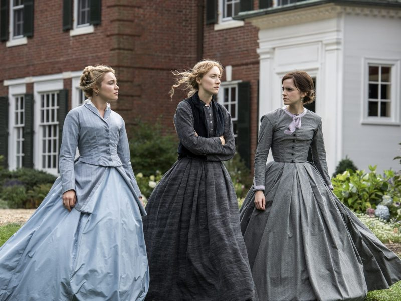 Florence Pugh, Saoirse Ronan, and Emma Watson in Little Women