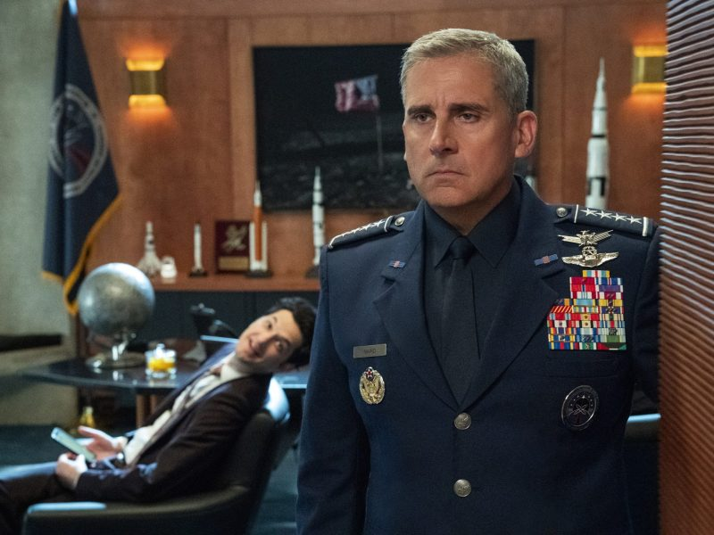 Steve Carell in Space Force.