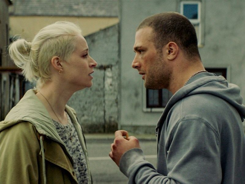 Niamh Algar and Cosmo Jarvis in The Shadow of Violence