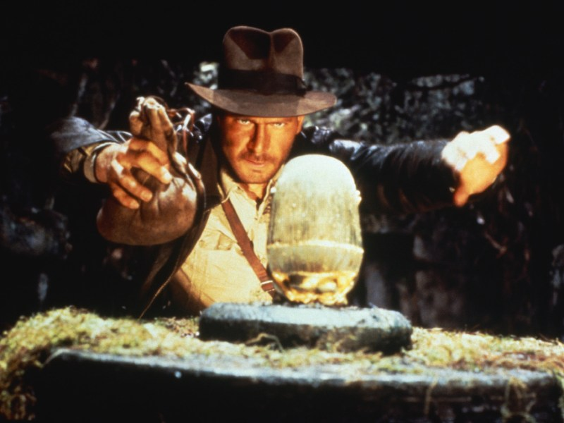 Harrison Ford in Indiana Jones and the Raiders of the Lost Ark.