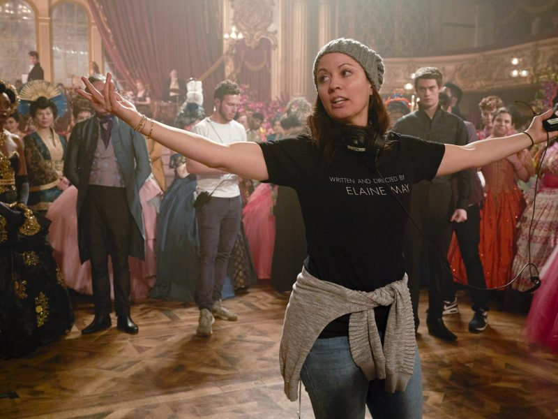 Kay Cannon on the set of Cinderella