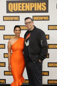 Queenpins writers/directors Gita Pullapilly and Aron Gaudet