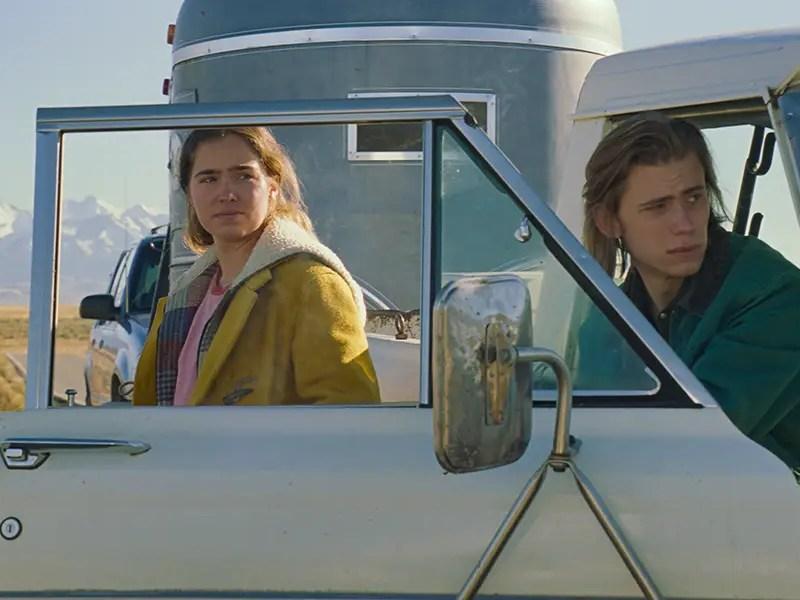 Haley Lu Richardson and Owen Teague in Montana Story