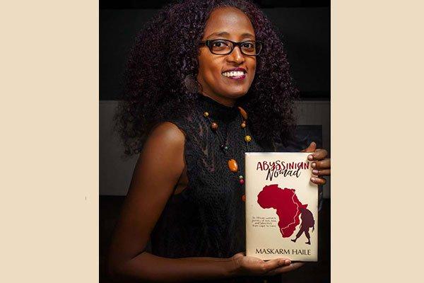 Author Maskarm Haile promotes her book in Kampala. PHOTO | COURTESY
