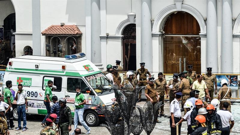 St. Anthony's Shrine in Kochchikade, Colombo, was one of the churches that was struck [Ishara S. Kodikara/AFP]