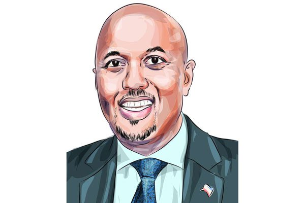 A portrait of Somaliland head of the Liaison Office in Kenya Bashe Omar. He is hopeful Somaliland will be a recognised as an independent country. ILLUSTRATION | THE EASTAFRICAN