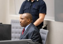 Bosco Ntaganda during the delivery of the sentence in Courtroom 1 of the International Criminal Court on 7 November 2019