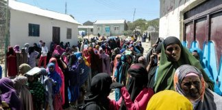 Voters queue at a polling station in Hargeisa, Somaliland, on November 13, 2017 to cast their ballot for the presidential election. PHOTO | AFP