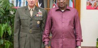 Yhuru And Africom Commander