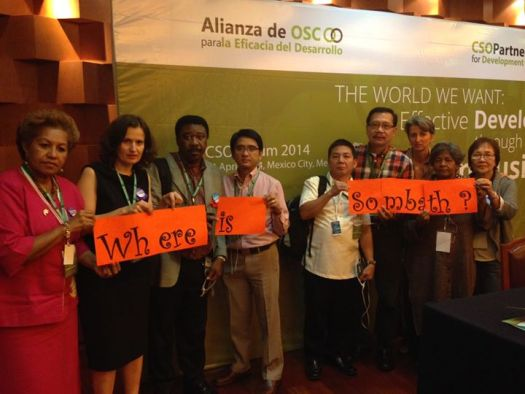 Participants at the CSO forum in Mexico City are asking...