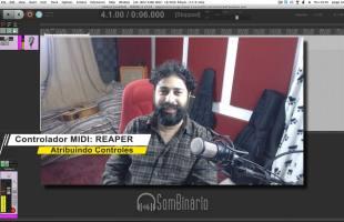 Configuração MIDI REAPER – Atribuindo Controles