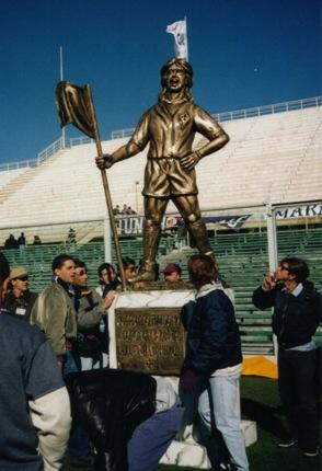 Batistuta Statue in Fiorentina
