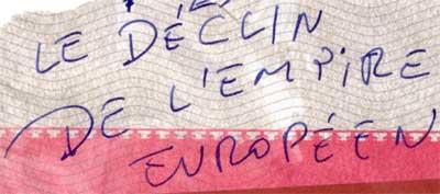 declin de l'empire europeen