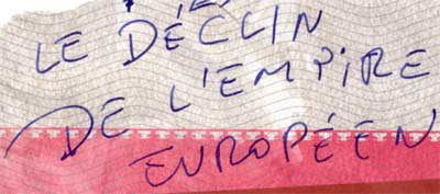 declin de l'empire europeen