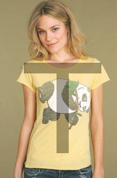 T-shirt en forme de T
