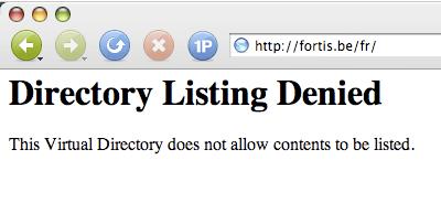 directory listing denied : FAIL