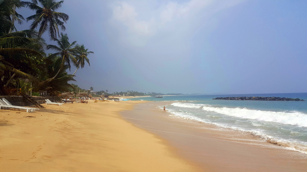 Tangalle Beach, south of Sri Lanka. November 2018.