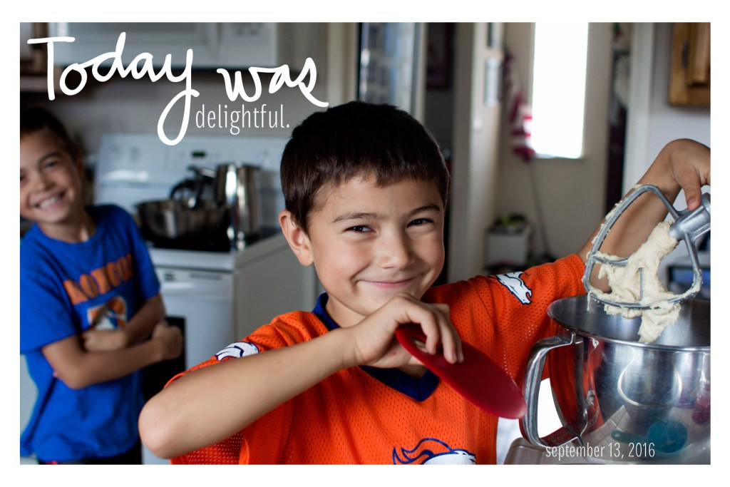 My little sous chef. Ah! I finally have a new blog-name for this kid. Sous Chef it is.