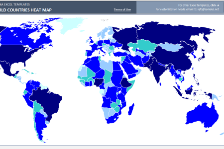Editable world map excel path decorations pictures full path views world map for excel create a map chart office support excel map chart by category world heat map excel template automatic country coloring world gumiabroncs Images