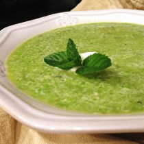 Fresh Snap Pea Soup
