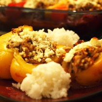 Beef Stuffed Bell Peppers