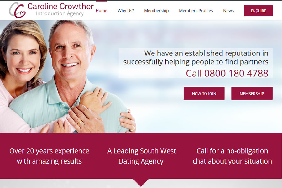 Caroline Crowther Dating Agency Website Designers in Somerset