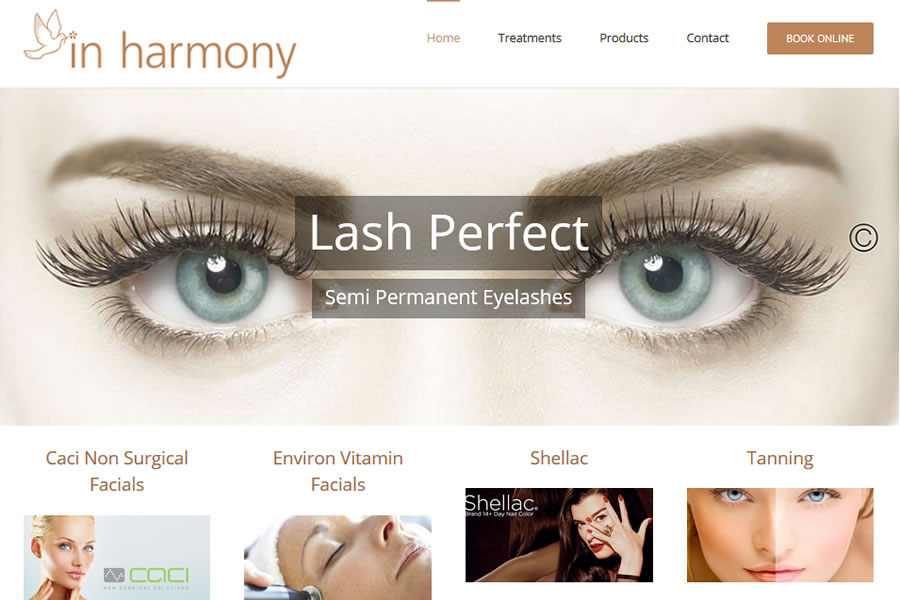 In Harmony - Beauty Salon Website Designers in Somerset
