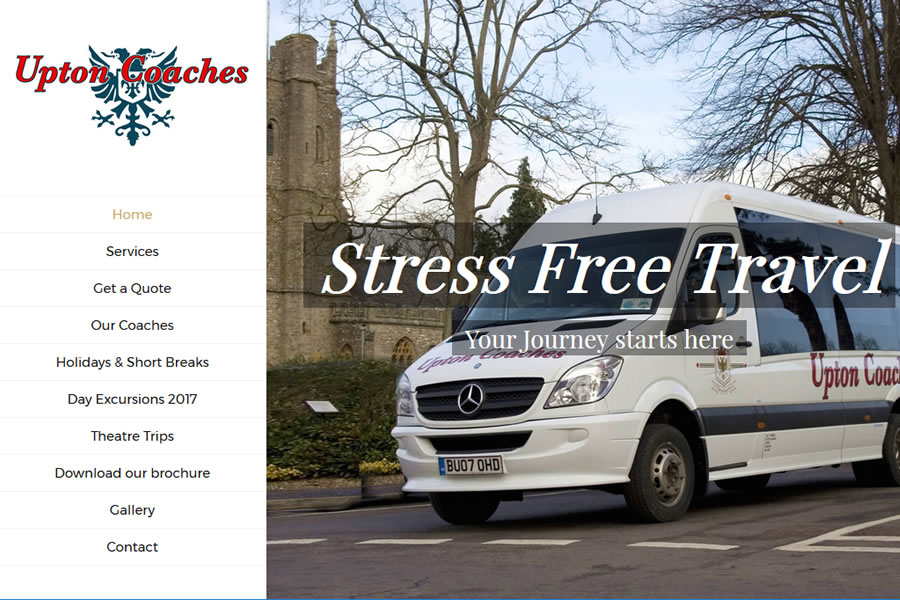 Website for coach operator in Somerset