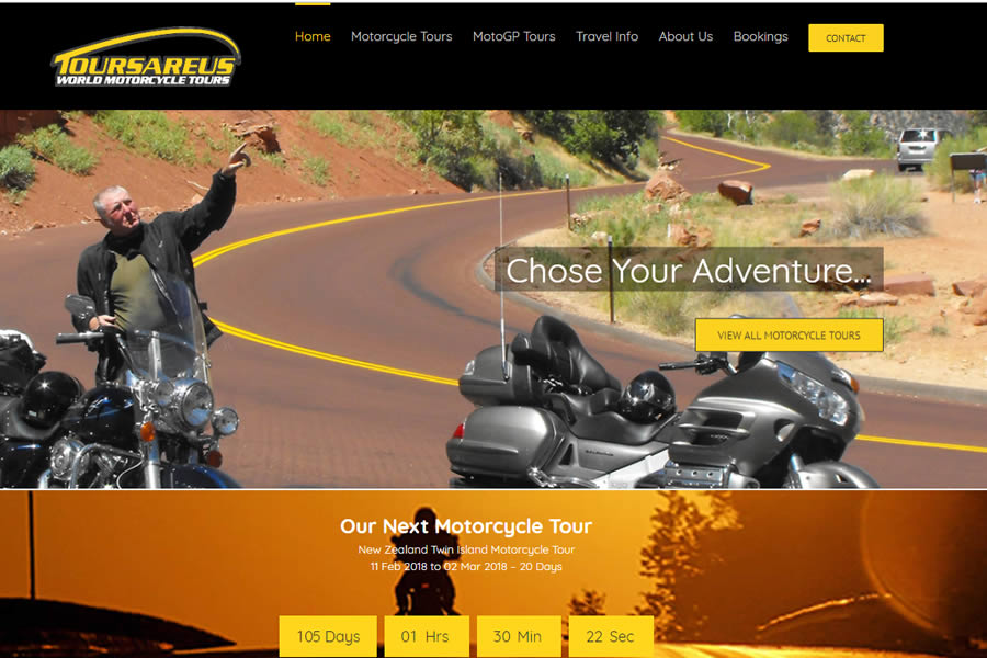 World Motorcycling tours