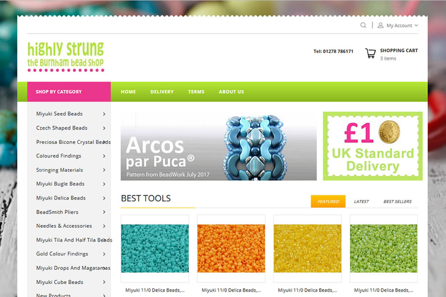 Highly Strung Beads eCommerce Website Design in Somerset