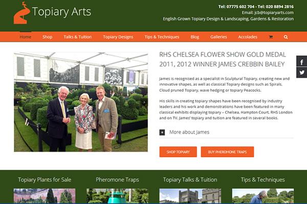 Website Design for Topiary Garden Designer