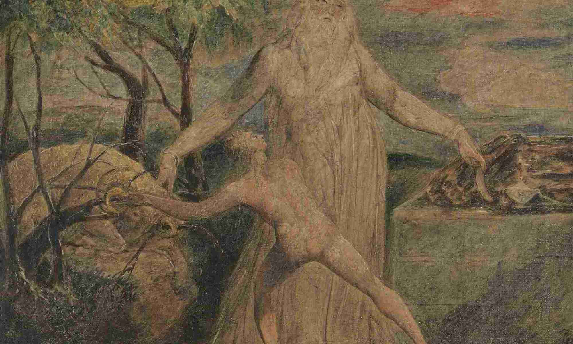 Isaac being sacrificed by Abraham