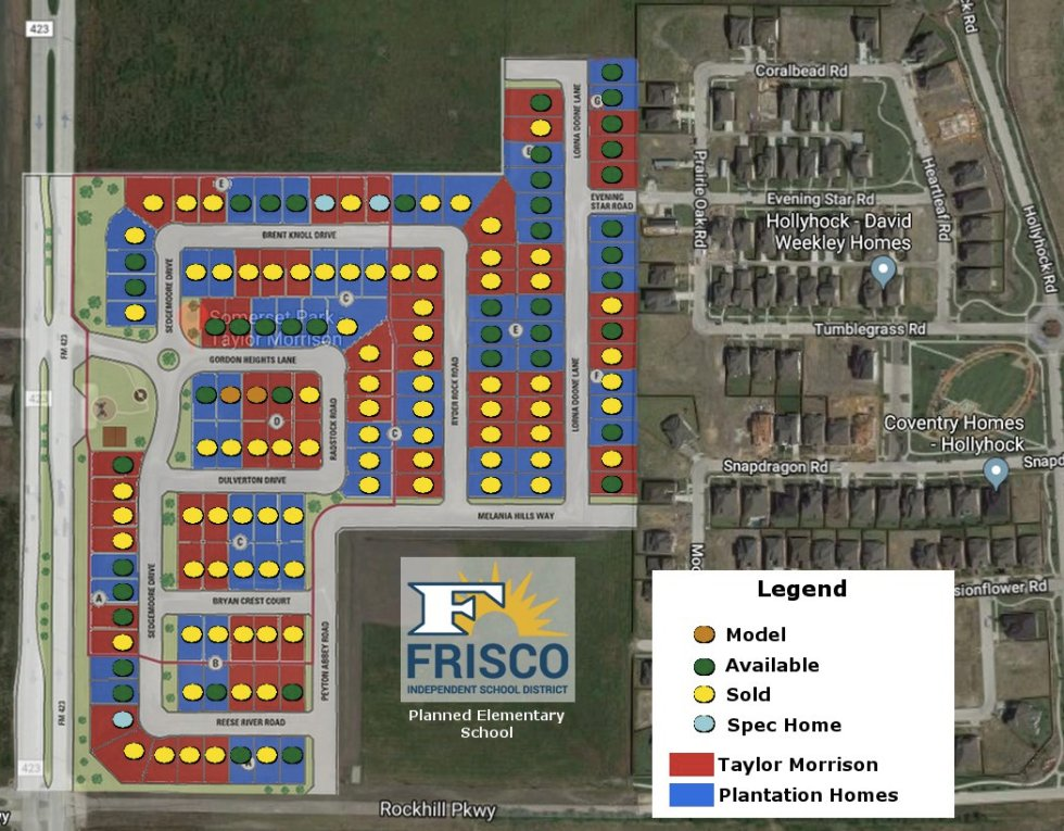 Somerset Park in Frisco Site Plan