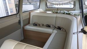 Wedding campervan curved seat